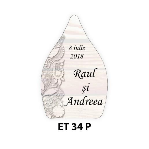 Eticheta pentru sticla ET 34 P