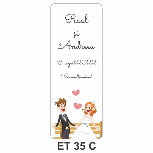 Eticheta pentru sticla ET 35 C