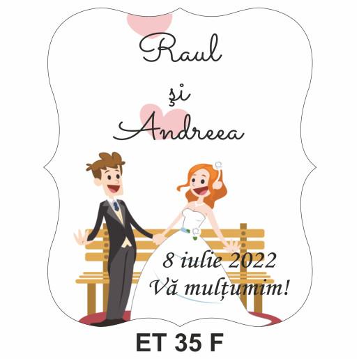 Eticheta pentru sticla ET 35 F