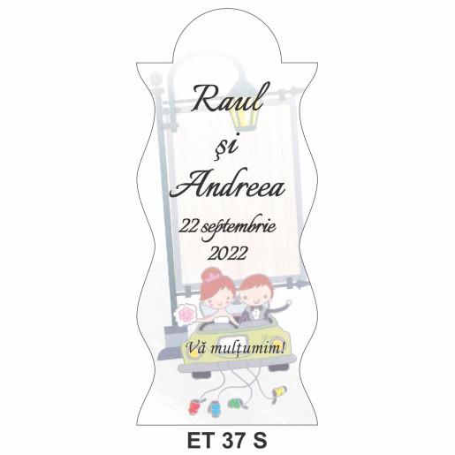 Eticheta pentru sticla ET 37 S