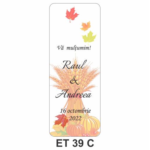 Eticheta pentru sticla ET 39 C