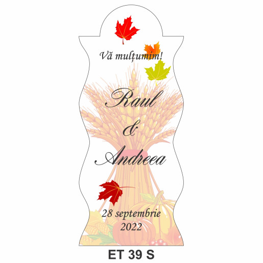 Eticheta pentru sticla ET 39 S
