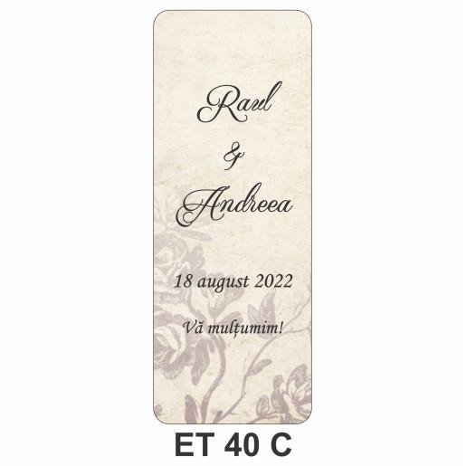 Eticheta pentru sticla ET 40 C