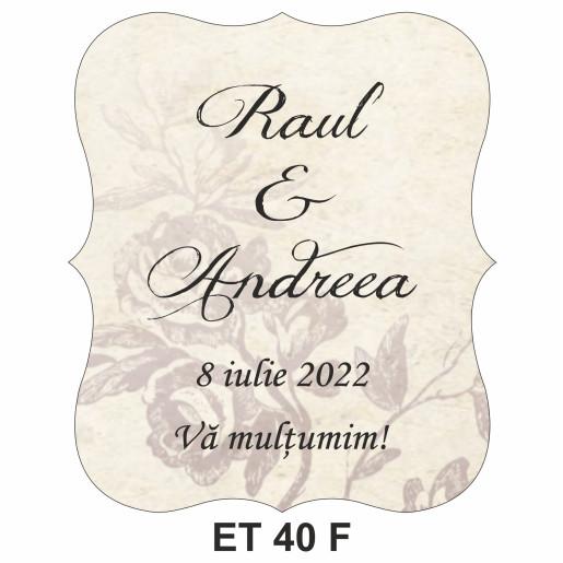 Eticheta pentru sticla ET 40 F