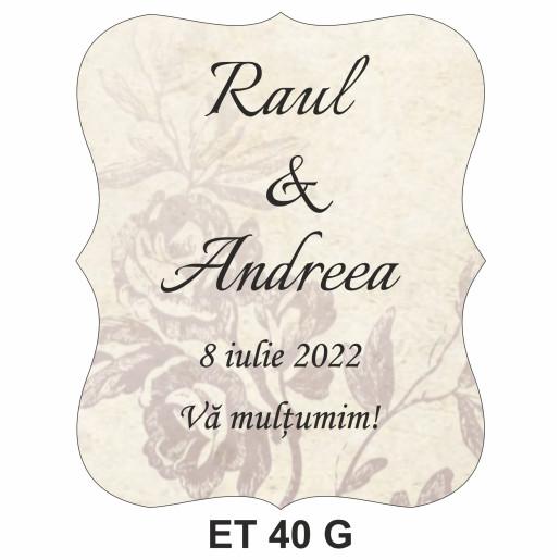 Eticheta pentru sticla ET 40 G