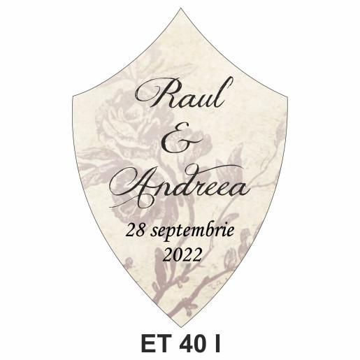 Eticheta pentru sticla ET 40