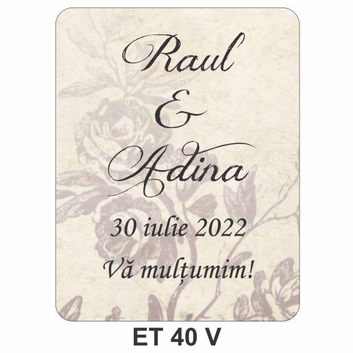 Eticheta pentru sticla ET 40 V