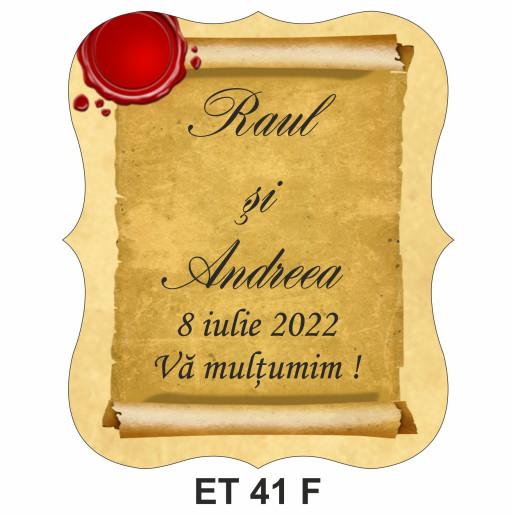 Eticheta pentru sticla ET 41 F