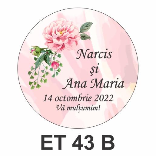 Eticheta mica ET 43 B
