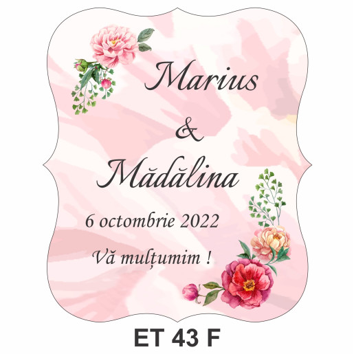 Eticheta pentru sticla ET 43 F