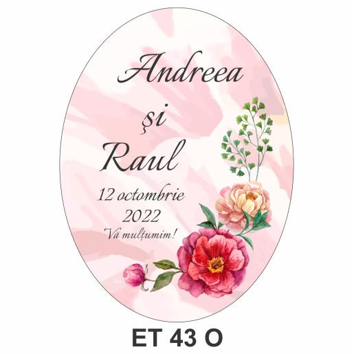 Eticheta pentru sticla ET 43 O