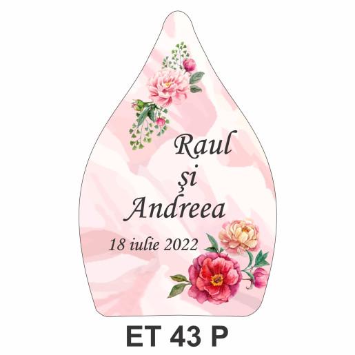 Eticheta pentru sticla ET 43 P