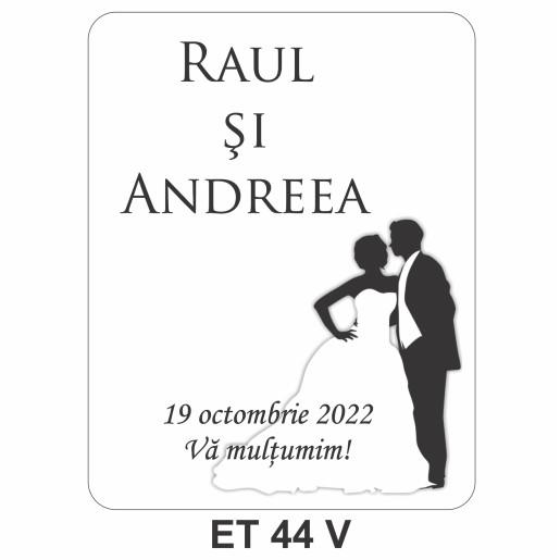 Eticheta pentru sticla ET 44 V