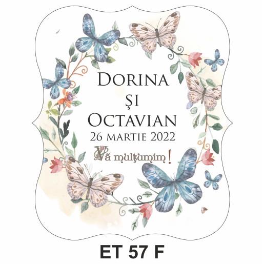 Eticheta pentru sticla ET 57 F