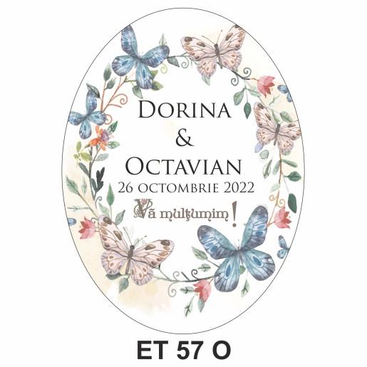 Eticheta pentru sticla ET 57 O