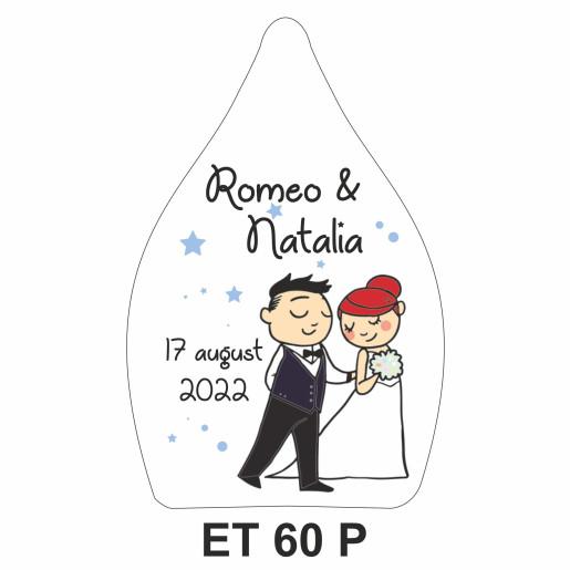 Eticheta pentru sticla ET 60 P