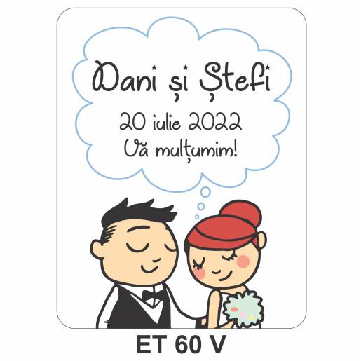 Eticheta pentru sticla ET 60 V