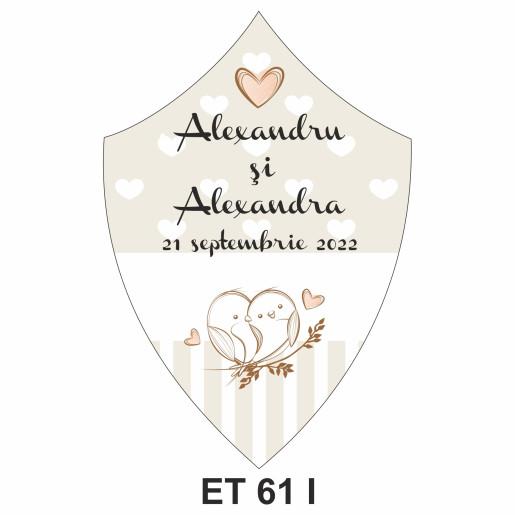 Eticheta pentru sticla ET 61 I