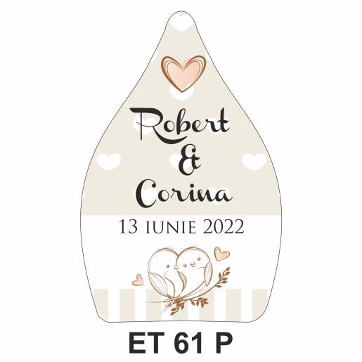 Eticheta pentru sticla ET 61 P