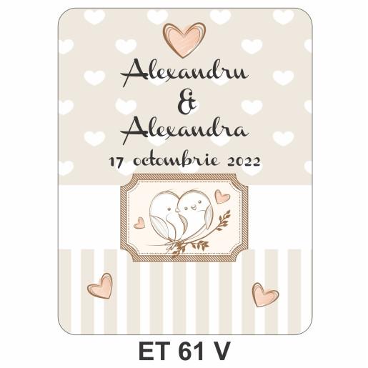 Eticheta pentru sticla ET 61 V