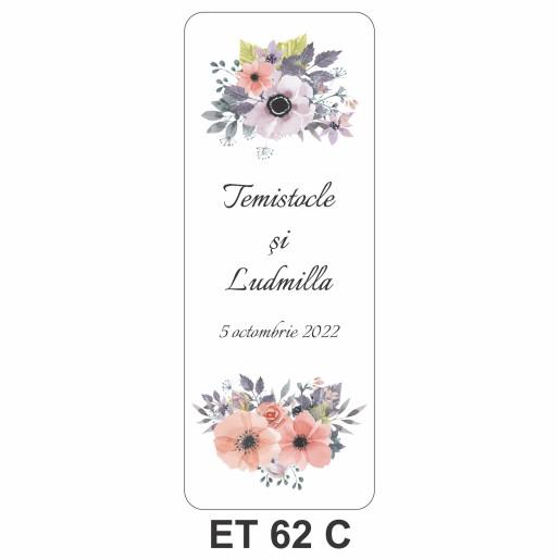 Eticheta pentru sticla ET 62 C