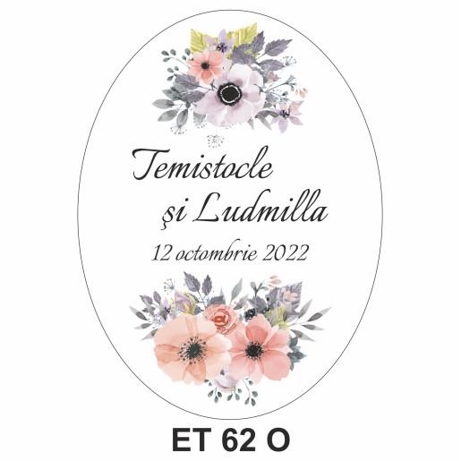 Eticheta pentru sticla ET 62 O