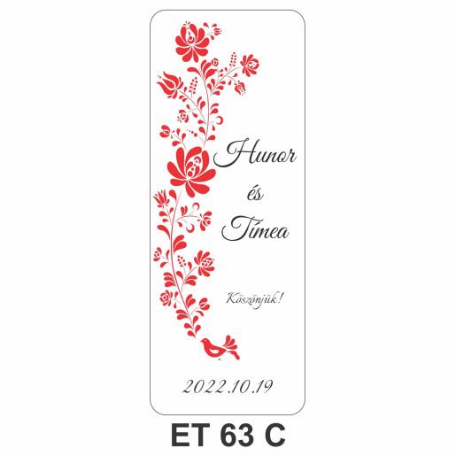 Eticheta pentru sticla ET 63 C