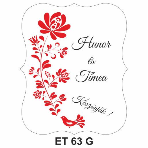 Eticheta pentru sticla ET 63 G