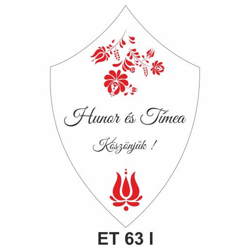 Eticheta pentru sticla ET 63 I