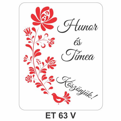 Eticheta pentru sticla ET 63 V