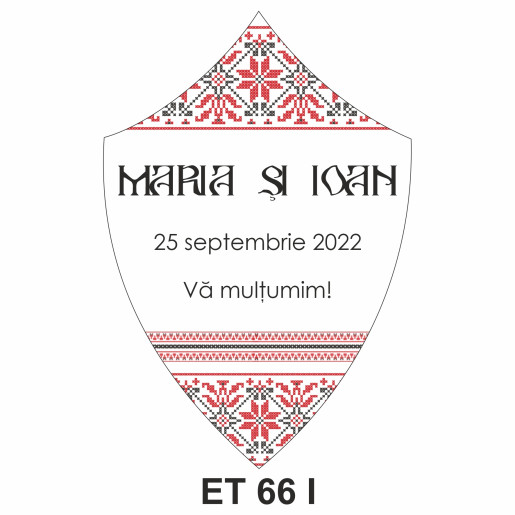 Eticheta pentru sticla ET 66 I
