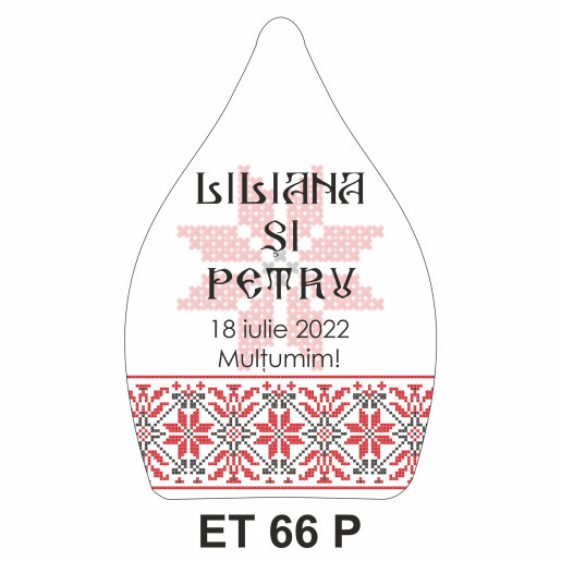Eticheta pentru sticla ET 66 P