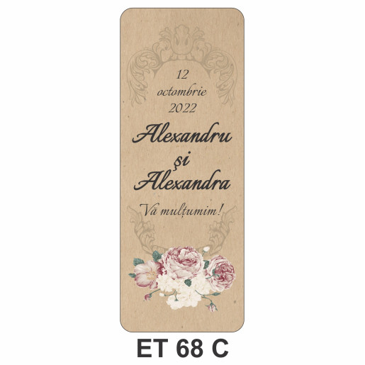 Eticheta pentru sticla ET 68 C