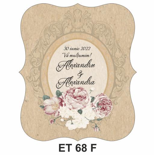 Eticheta pentru sticla ET 68 F