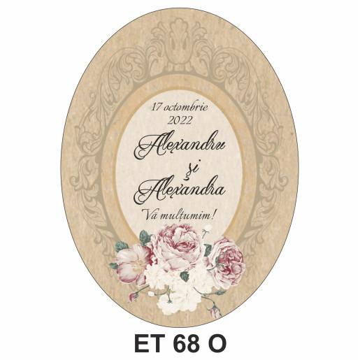 Eticheta pentru sticla ET 68 O