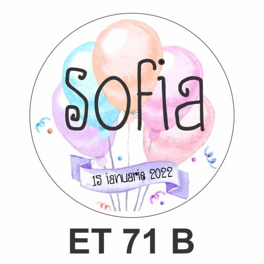 Eticheta mica ET 71 B