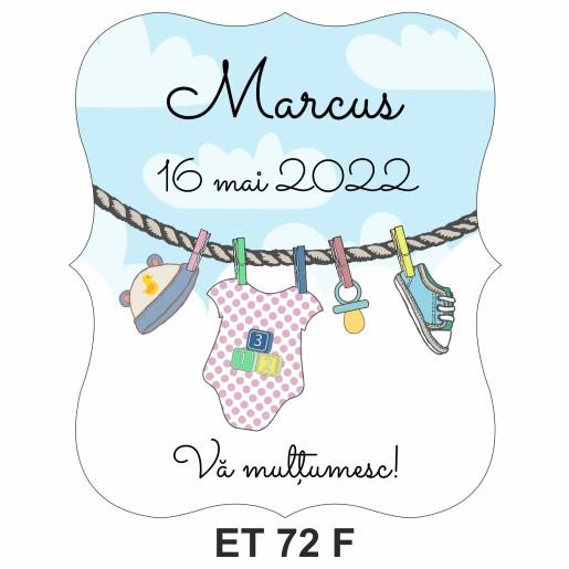 Eticheta pentru sticla ET 72 F