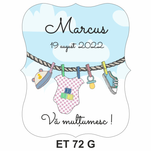 Eticheta pentru sticla ET 72 G