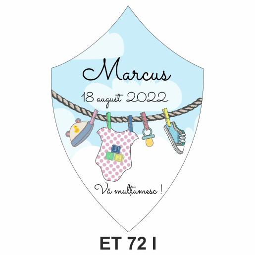 Eticheta pentru sticla ET 72 I