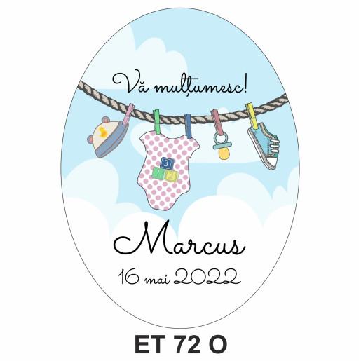 Eticheta pentru sticla ET 72 O