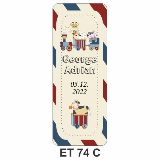 Eticheta pentru sticla ET 74 C