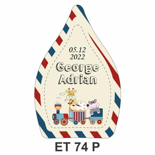 Eticheta pentru sticla ET 74 P
