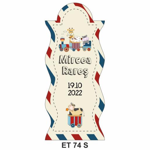 Eticheta pentru sticla ET 74 S