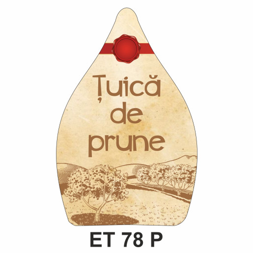 Eticheta pentru sticla ET 78 P