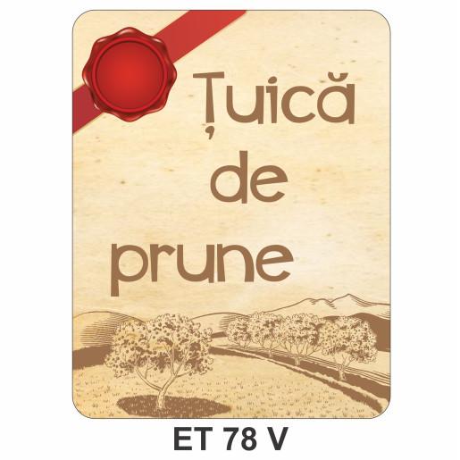 Eticheta pentru sticla ET 78 V