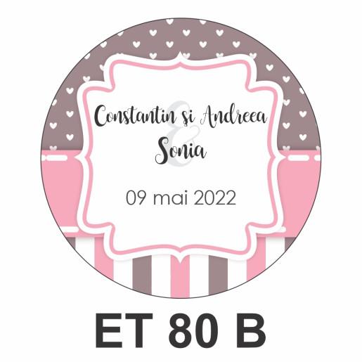 Eticheta mica ET 80 B