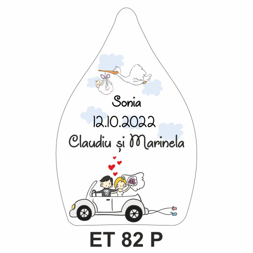 Eticheta pentru sticla ET 82 P