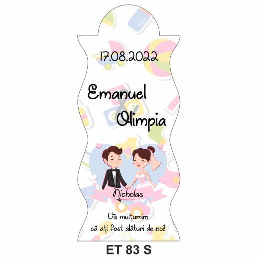 Eticheta pentru sticla ET 83 S