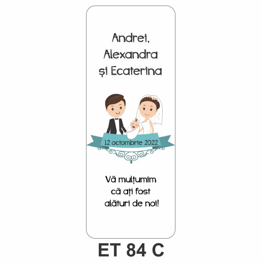 Eticheta pentru sticla ET 84 C