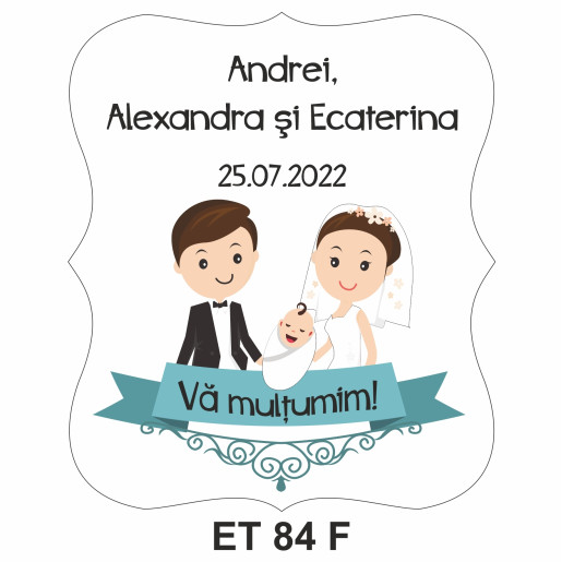 Eticheta pentru sticla ET 84 F